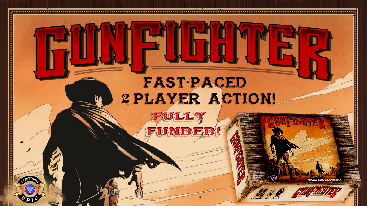 Gunfighter! The Fast-Paced Tactical Card Game of Wild West Showdowns for 2-3 players!