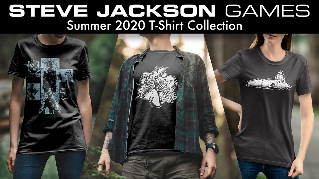 Project image for Steve Jackson Games Summer 2020 T-Shirt Collection