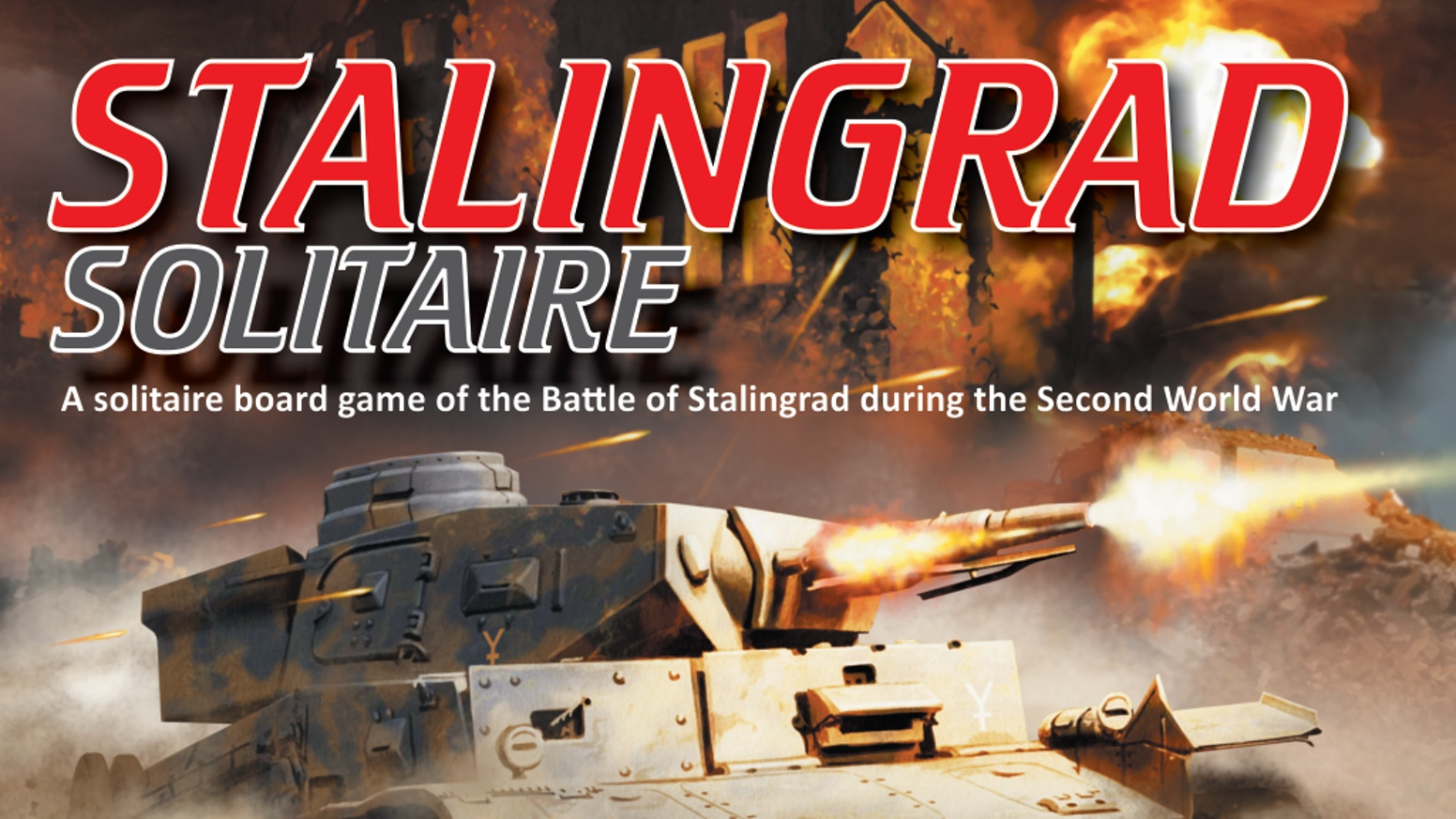 A solitaire board game of the Battle of Stalingrad during the Second World War