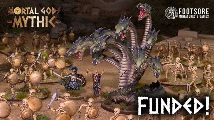 Footsore Miniatures & Games bring the Mortal Gods: Mythic range of Heroes & Monsters to your tabletop.