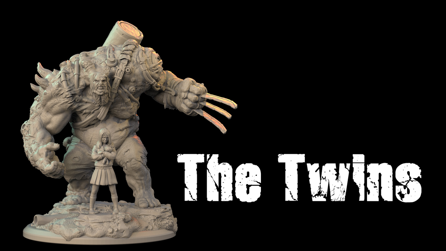 Ouroboros Miniatures presents - The Twins, large scale miniatures for painters, gamers and collectors cast in high quality resin.