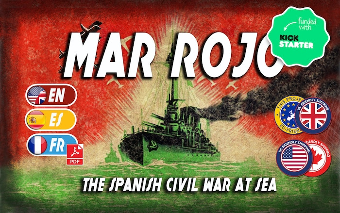 Mar Rojo is an exciting, fast-paced card battle game for one or two players about the Spanish Civil War at sea.