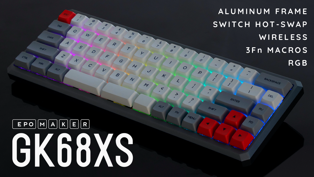 Epomaker GK68XS Bluetooth Mechanical Keyboard