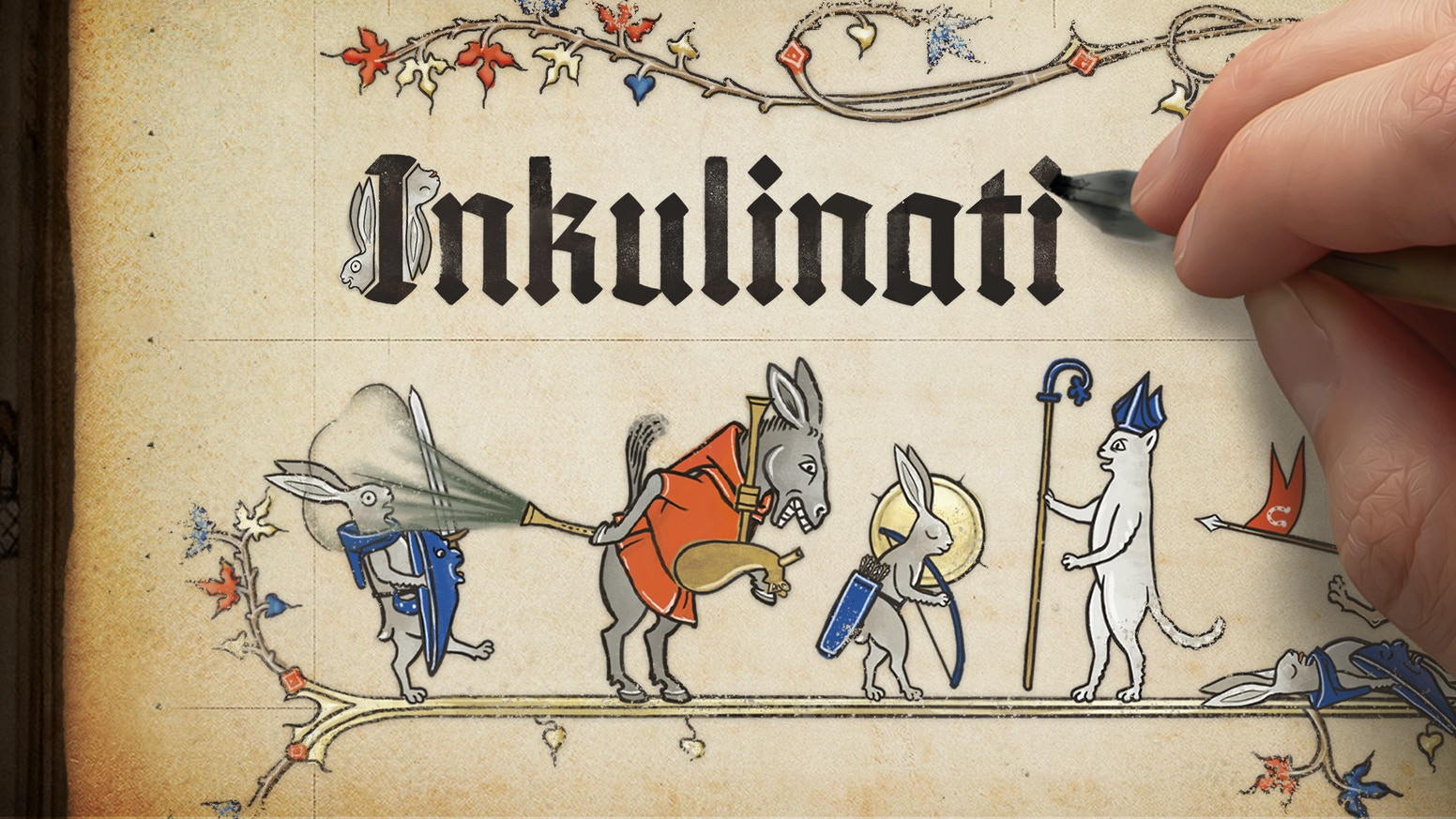Become a master of the Living Ink and lead your illustrated animal army on the pages of medieval books.