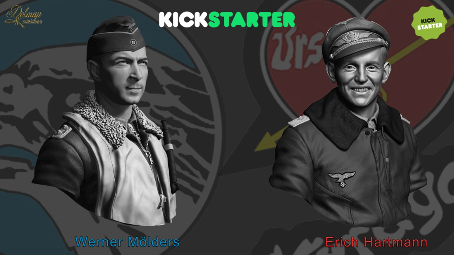 Dolman Miniatures has created a project for lovers of the history of Aces of all time.We start with several busts