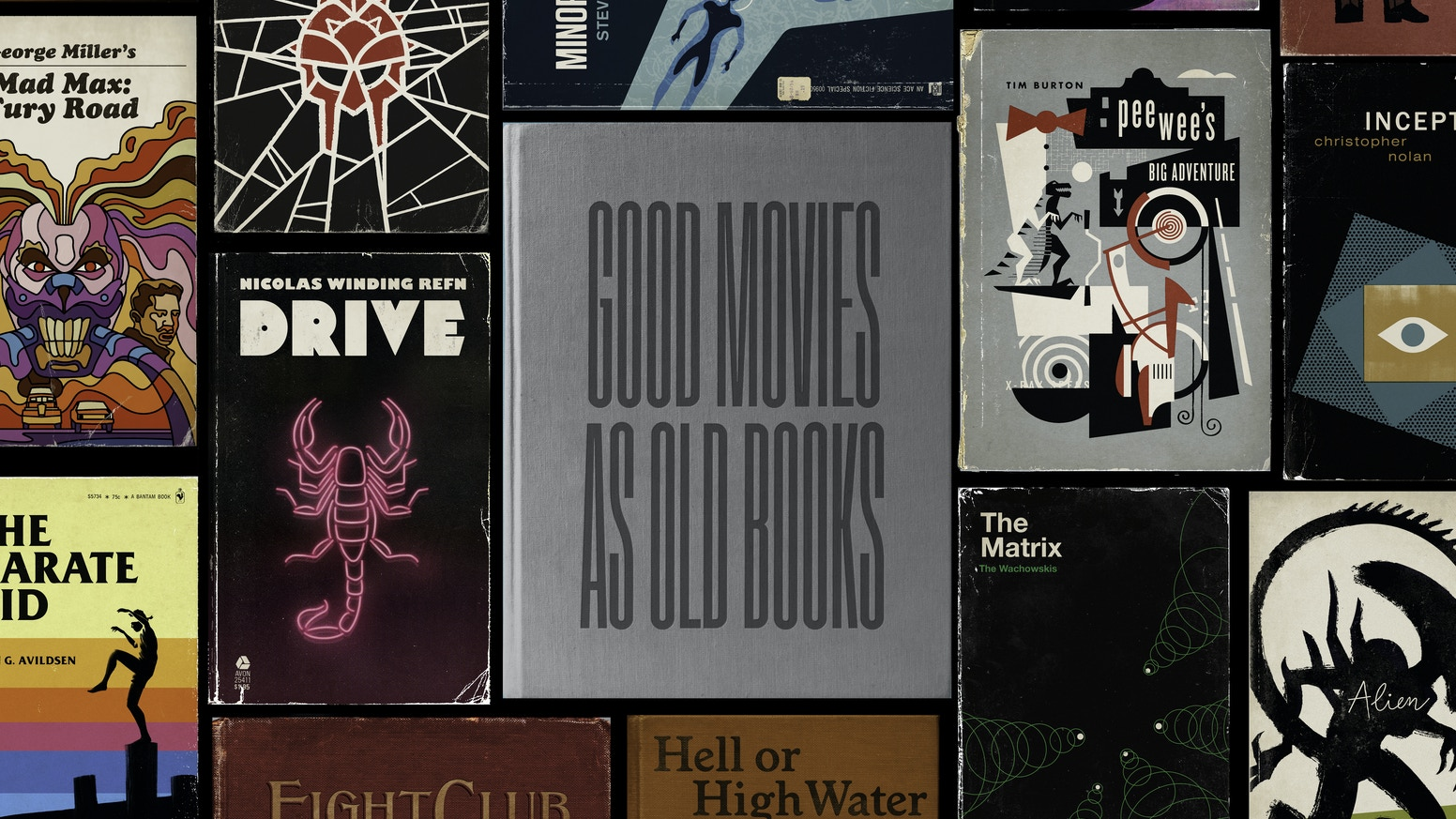 An art book and corresponding set of prints of 100 of my favorite films reimagined as vintage book covers.