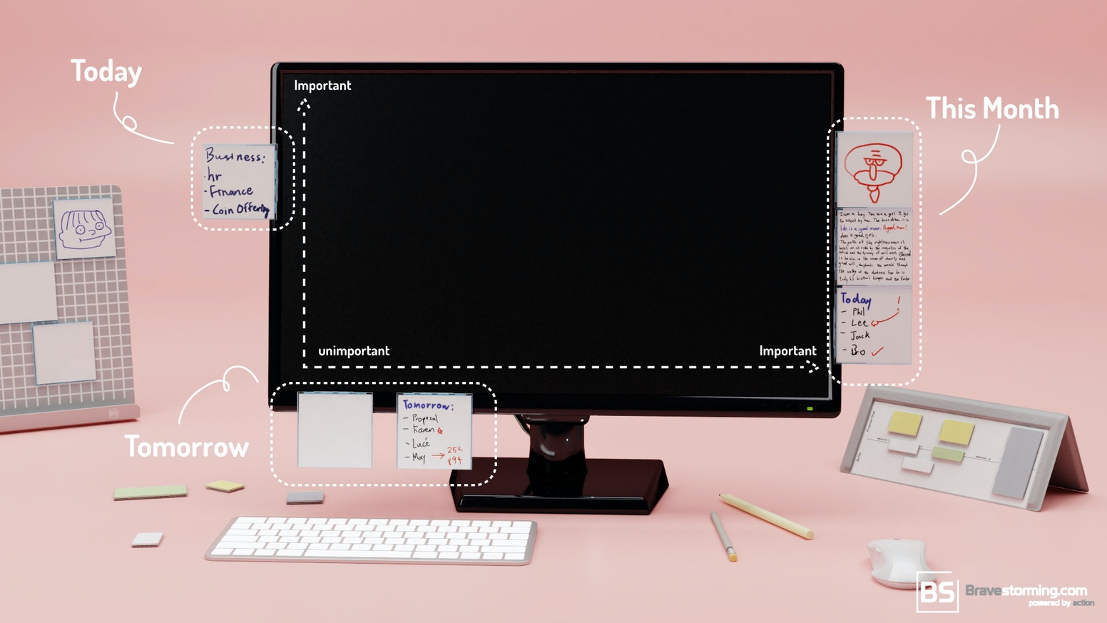 Washable, Reusable Silicon whiteboard with patented magnetic design. Making the workspace in your grip and control.