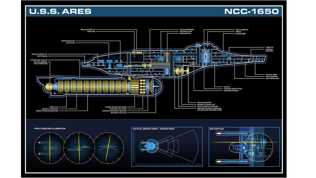 Project image for USS Ares Master Systems Display Poster