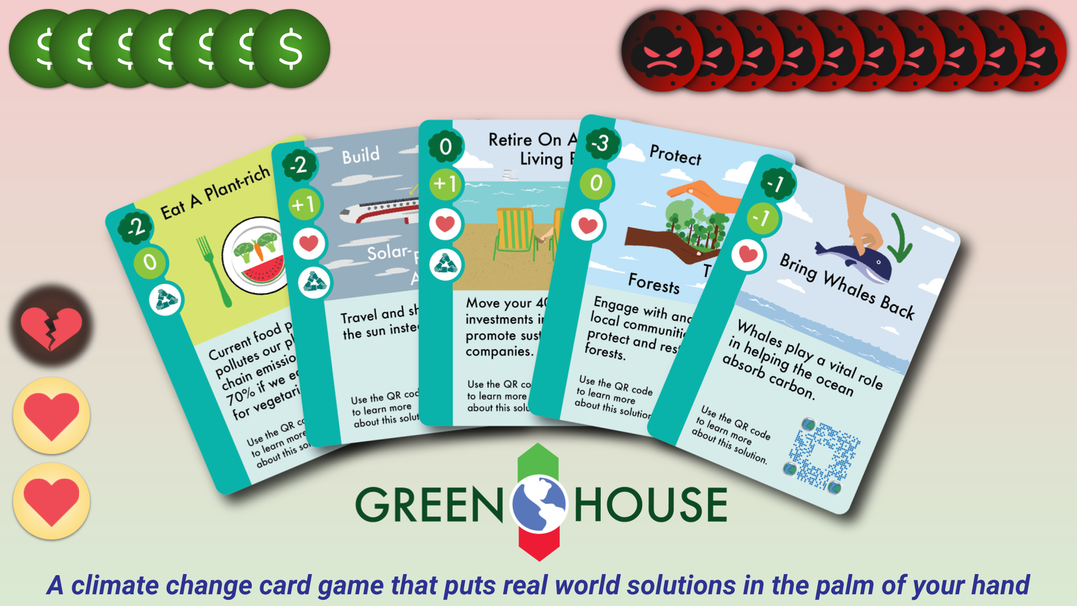 Play a cooperative climate change card game with real world solutions to save our planet.
