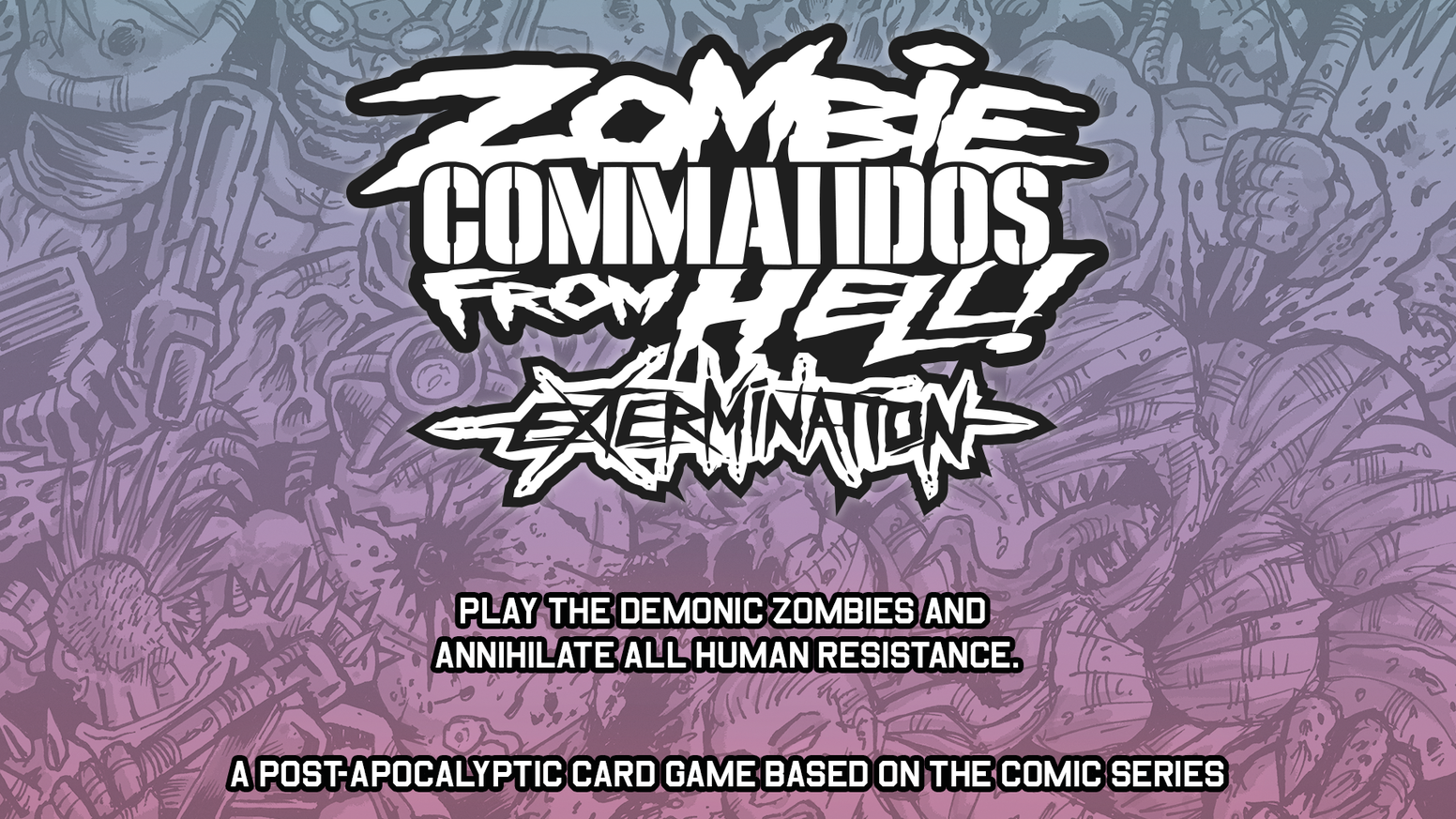 A co-op card game in which you play the zombies seeking to eliminate humans in a post-apocalyptic setting!