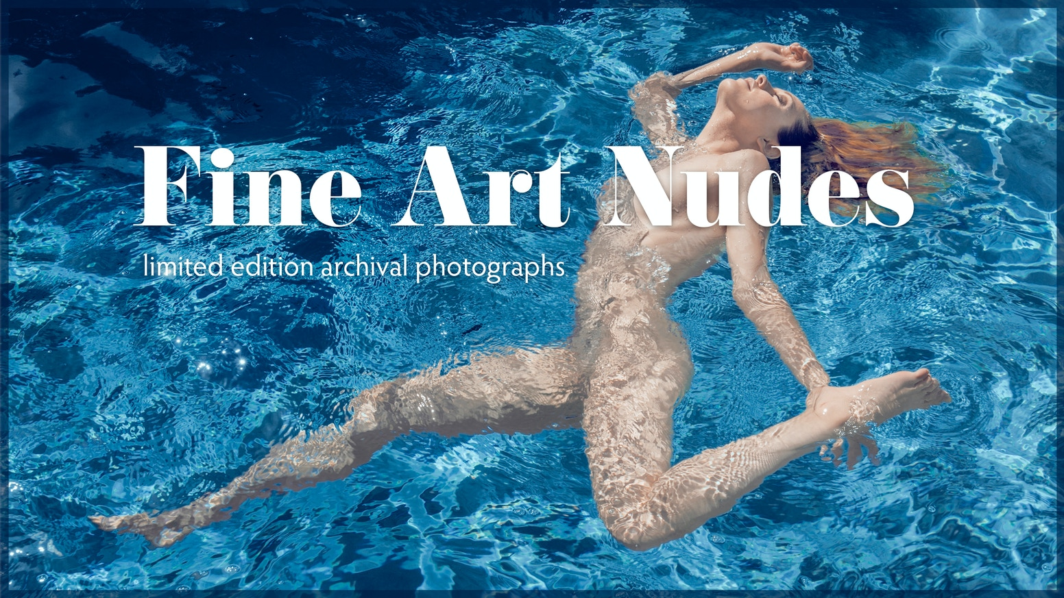 Limited edition archival photographs. Fine art nudes celebrating feminine beauty with an emphasis on aesthetics.