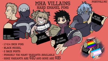 MHA Villains Hard Enamel Pins