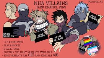MHA Villains Hard Enamel Pins