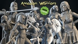 AMAZON WARRIORS – 3D Printable Miniatures – STL files thumbnail