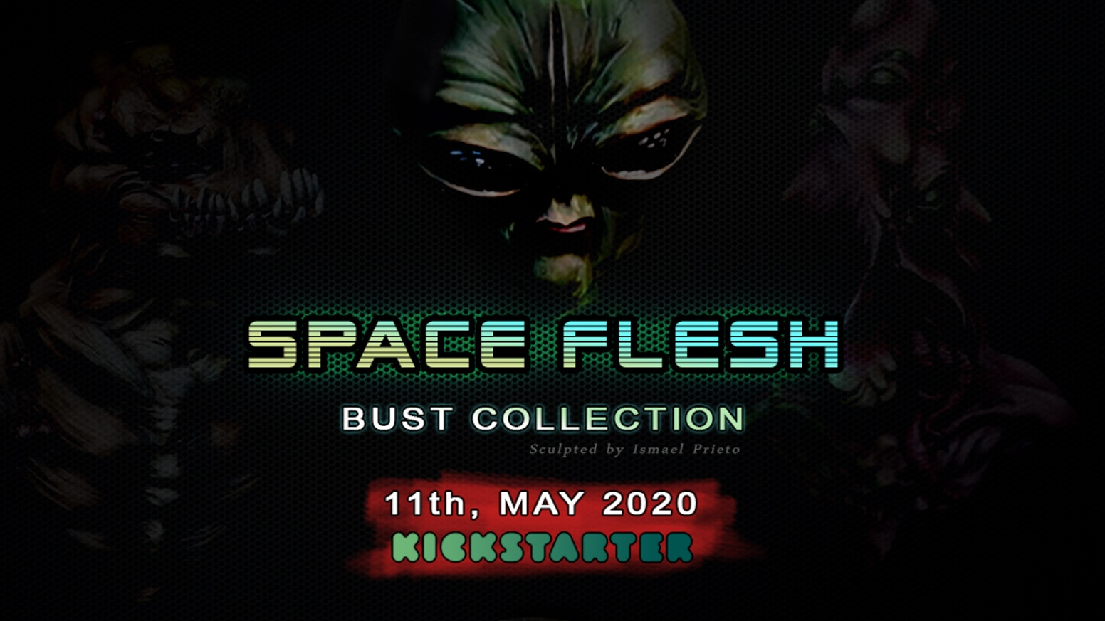 Highly detailed alien resin busts designed for painters and collectors. Figures, miniatures, artists.