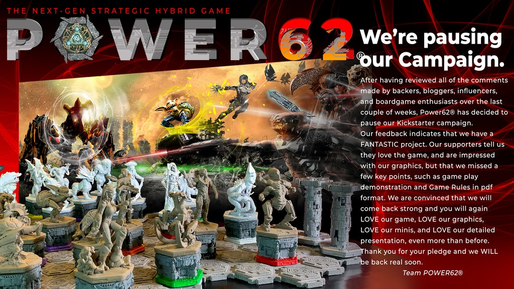 Project image for Power62® - The NextGen Strategic Hybrid Board Game (Canceled)