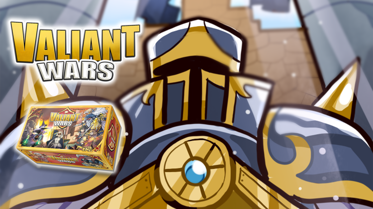 Valiant Wars is a competitive press-your-luck deck-builder, where you must fight to capture lands of the once-great kingdom.