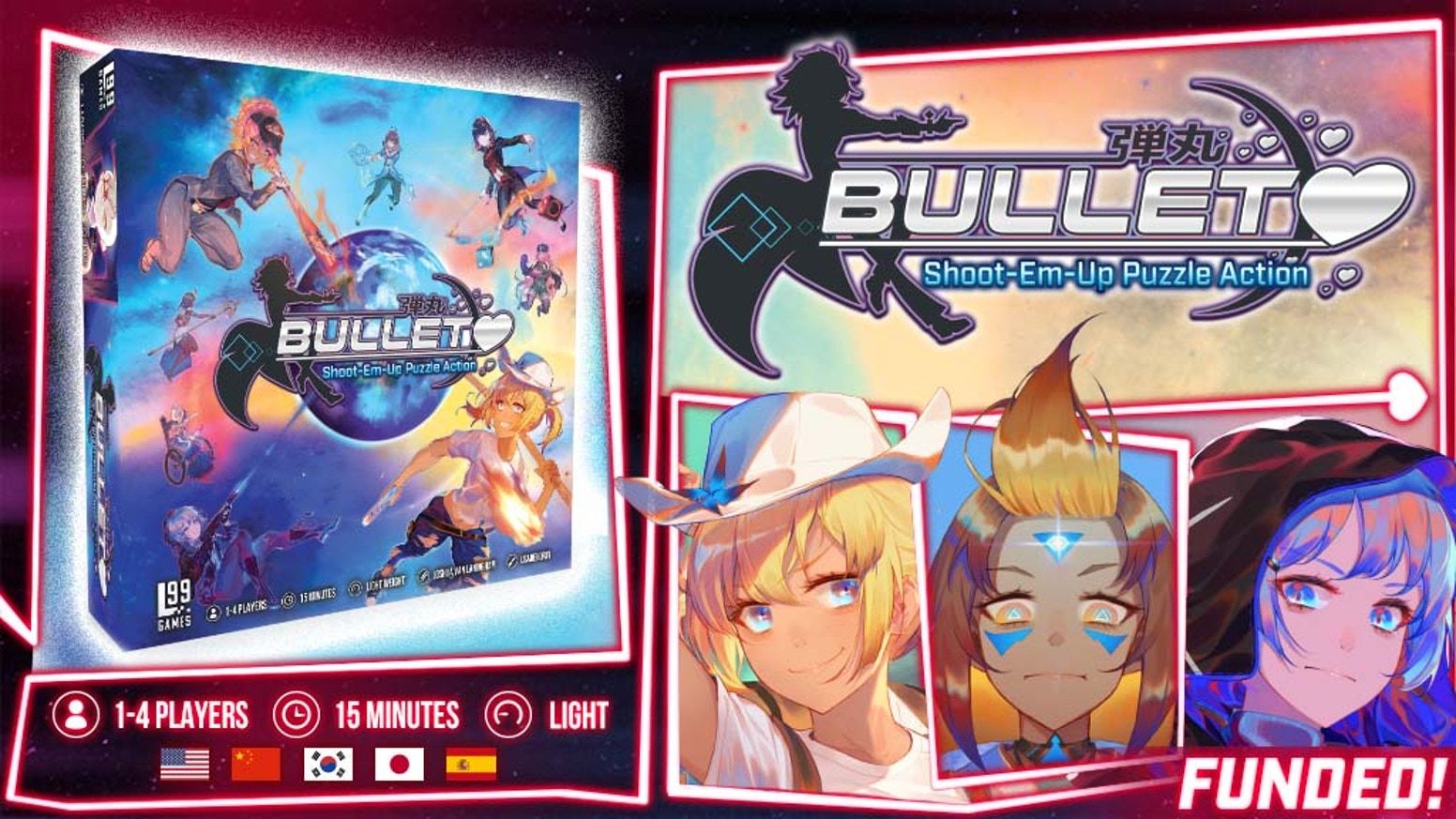 A puzzle-driven, real-time, SHMUP-inspired board game featuring awesome anime-style artwork and a magical cast!
