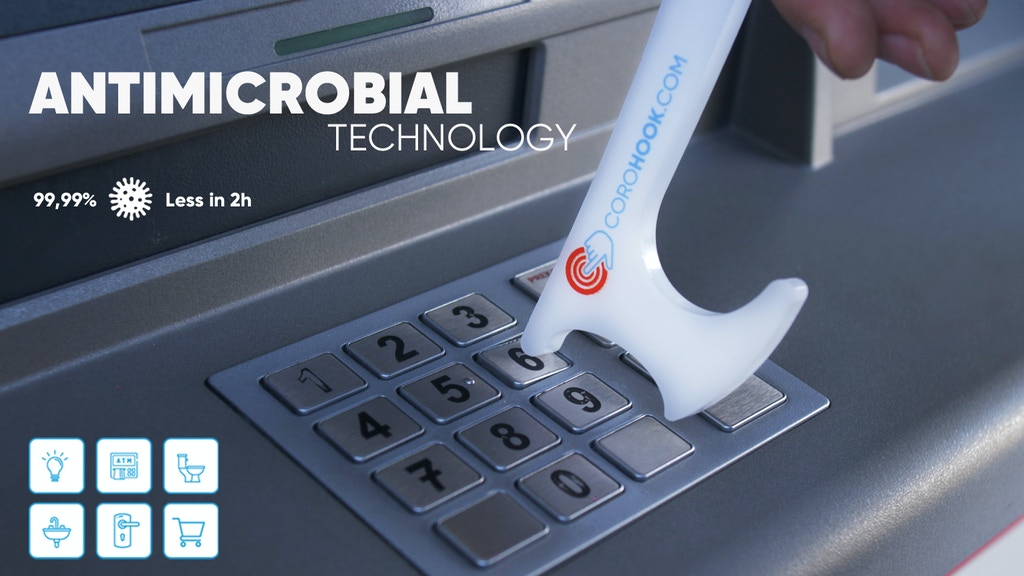Corohook Antimicrobial Multipurpose Hand Gadget - Reminder project video thumbnail