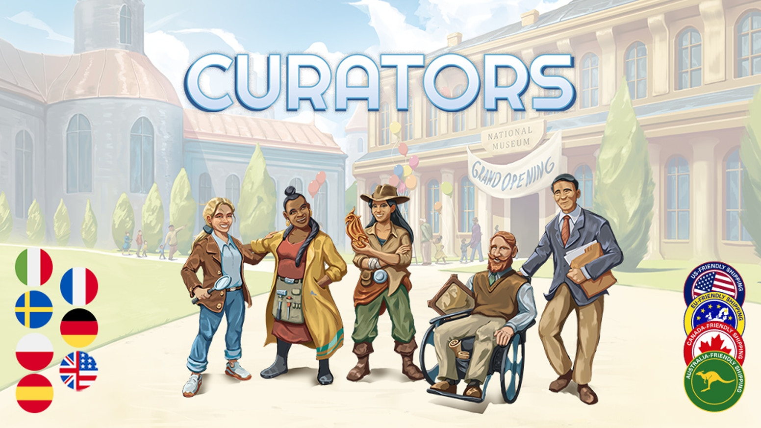 A euro style, tile-laying game, for 1-4 players, where players build museums and their collections to attract visitors.