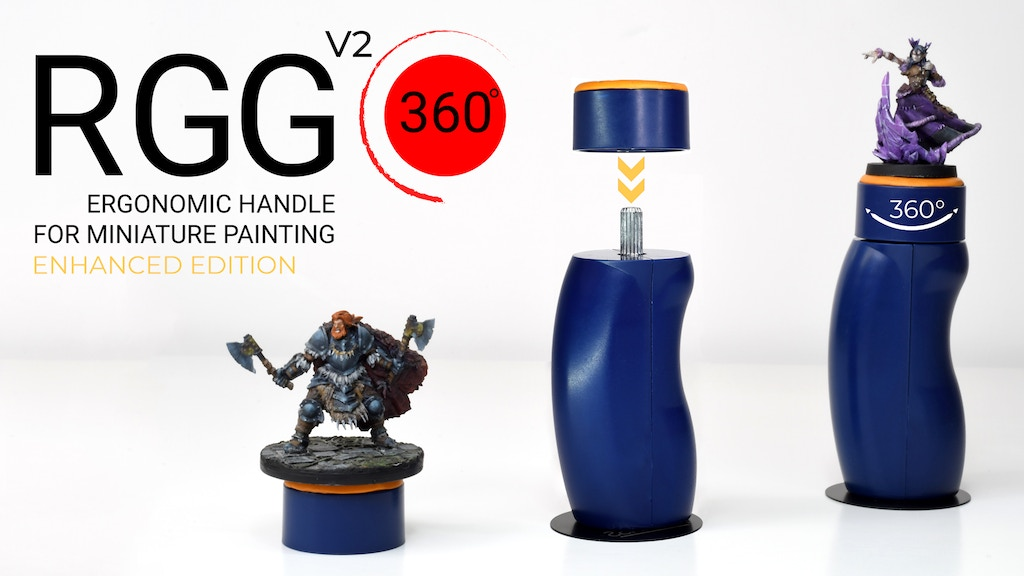 RGG 360° V2 Ergonomic Miniature Handle for Painting Minis project video thumbnail