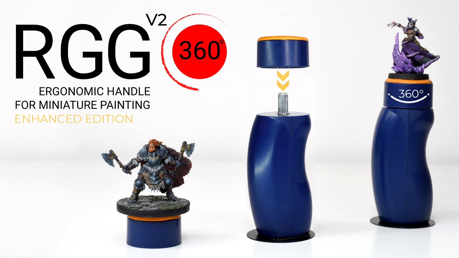 The perfect holder for your favorite hobby, painting miniature, wargame, board game, tabletop. Unique 360 rotation, Ergonomic, Magnets