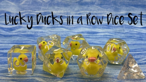 https://www.kickstarter.com/projects/theevergreenburrow/lucky-ducks-in-a-row-rubber-duckie-dice-set