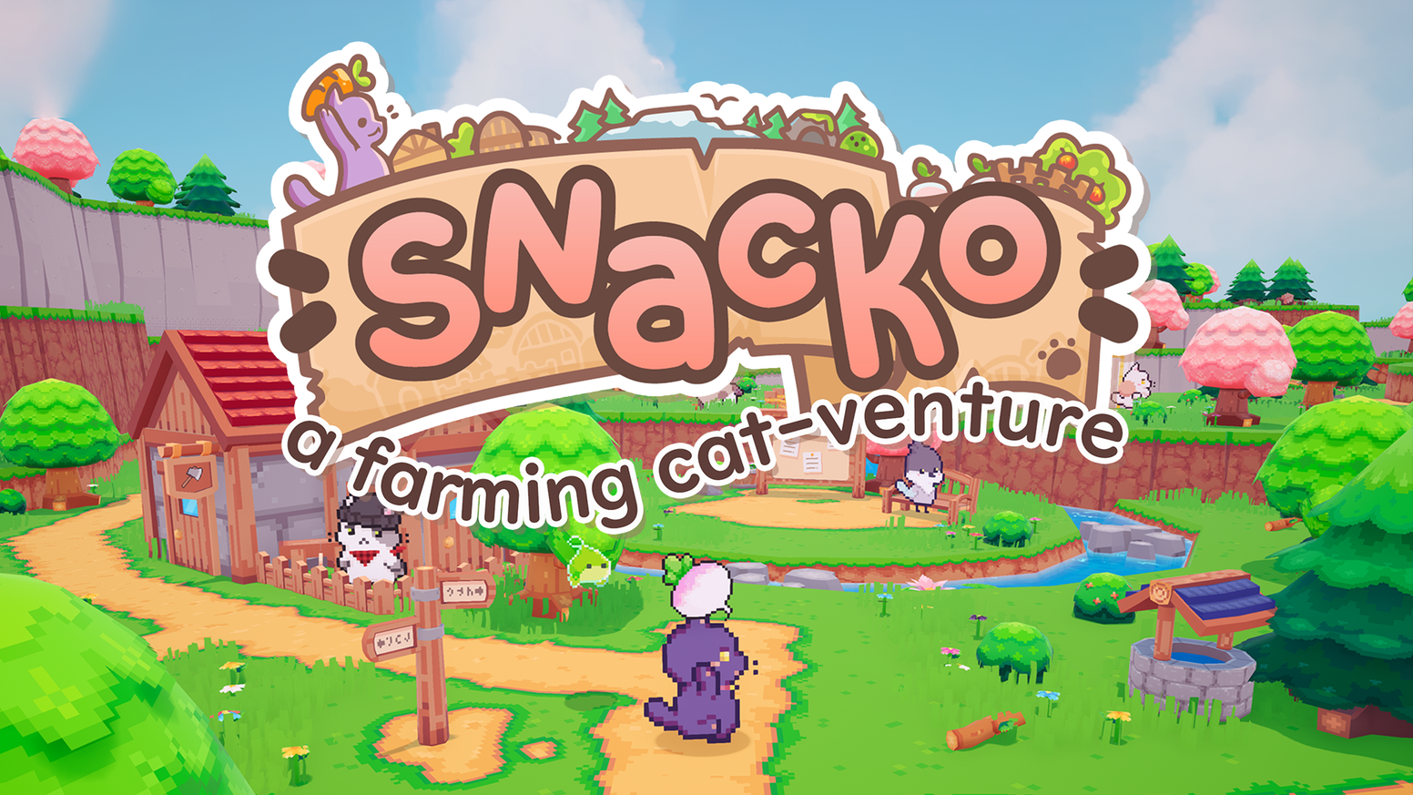 Snacko is about two kitties, Momo and Mikan, starting anew on a (seemingly) deserted island with a mysterious past.
