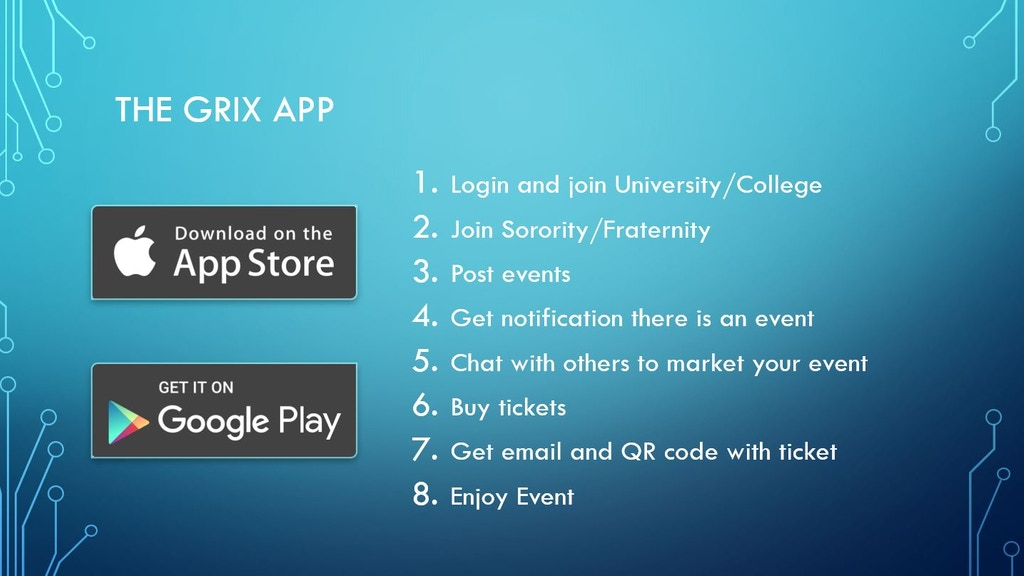 Project image for Grix - The Greek Life Event App!