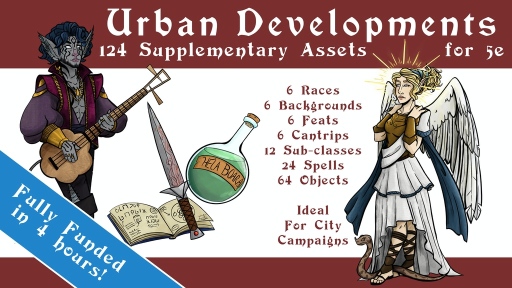 5e Urban Developments - Subclasses, Items, Races, & Spells project video thumbnail