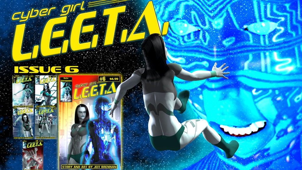 Cyber Girl Leeta new adventure issue 6