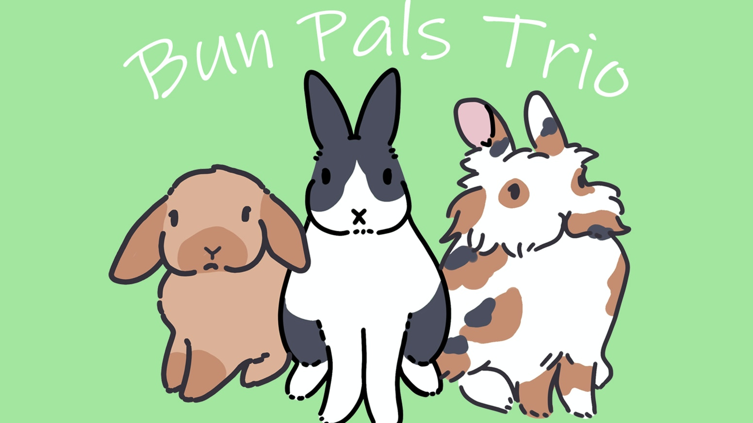 With this Kickstarter's success we will bring this adorable bun pal trio to life!