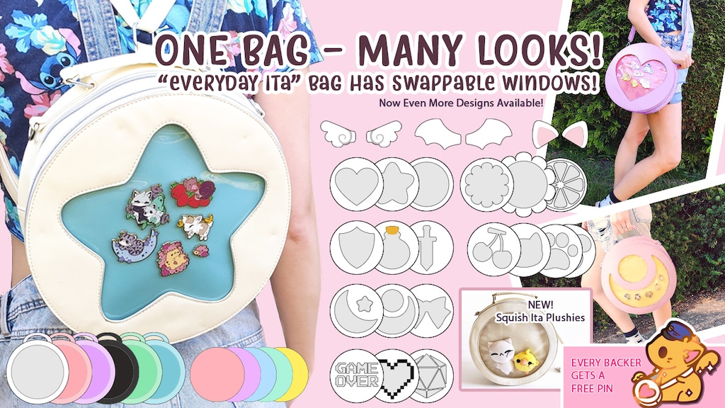 Project image for Everyday Changeable Front Ita Display Bag & Squish Plush Toy