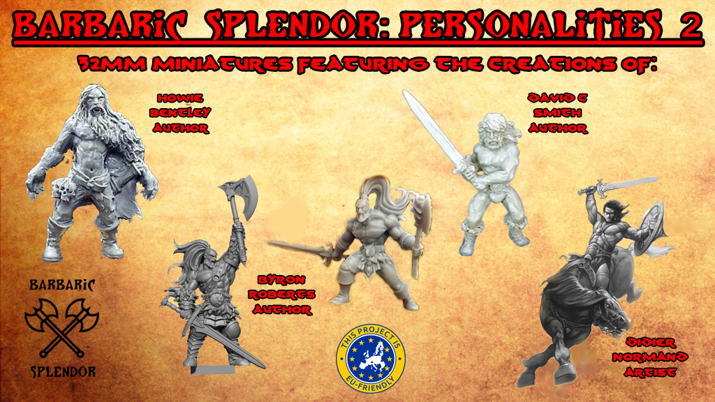 Project image for Barbaric Splendor Kickstarter Two: Personalities 2