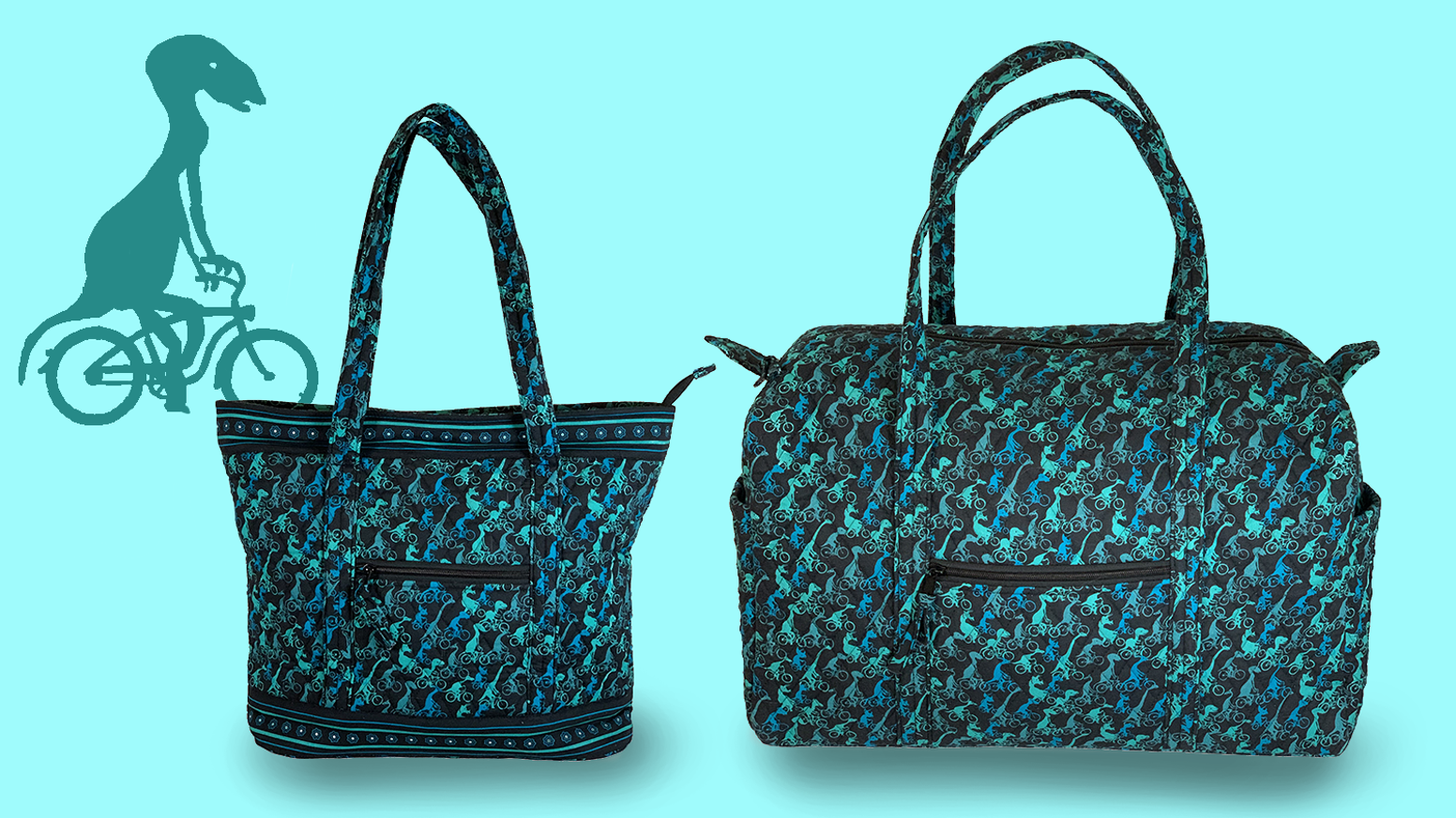 Quilted-cotton bags for great escapes.