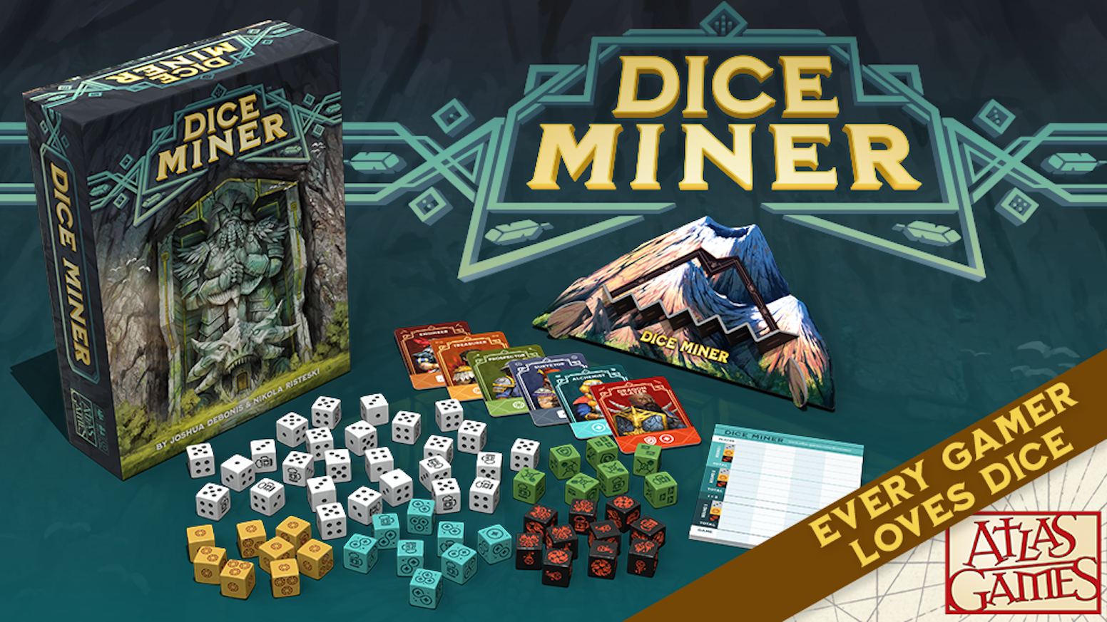 Draft the dice you covet, add them to your hoard, and push your luck!