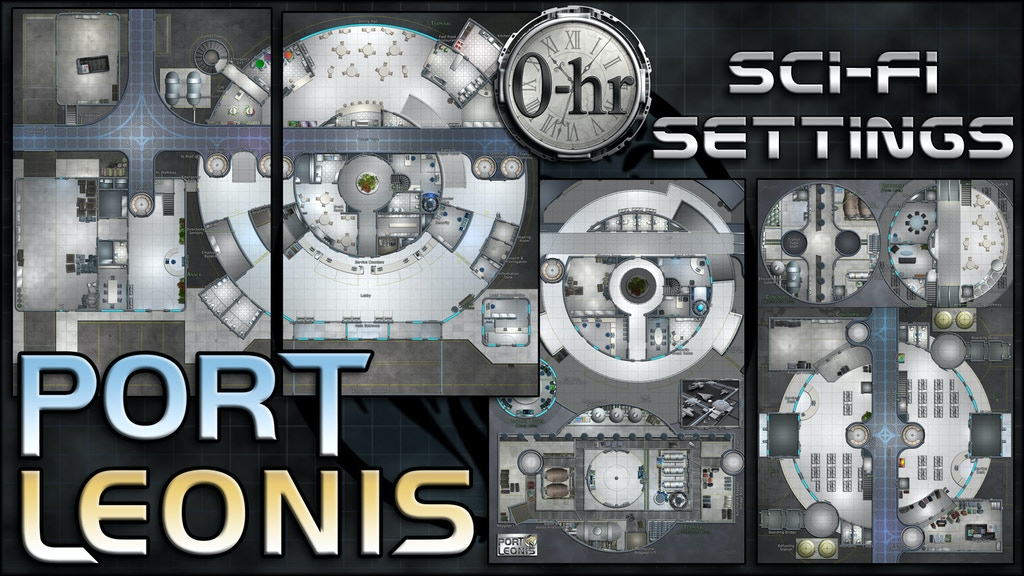 Port Leonis: sci-fi miniature-scale map project video thumbnail