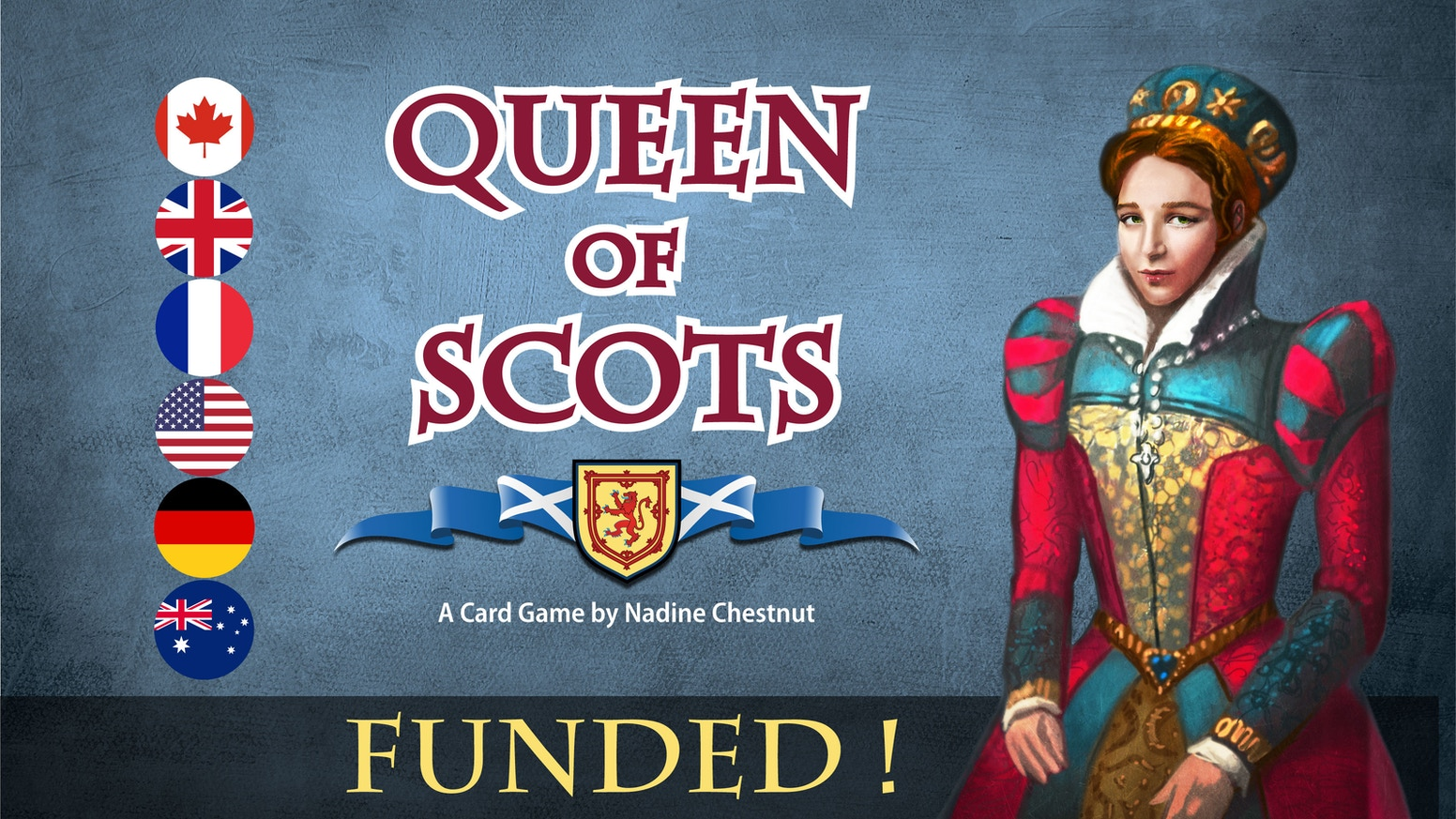 A match-for-points card game set to the story of Mary, Queen of Scots