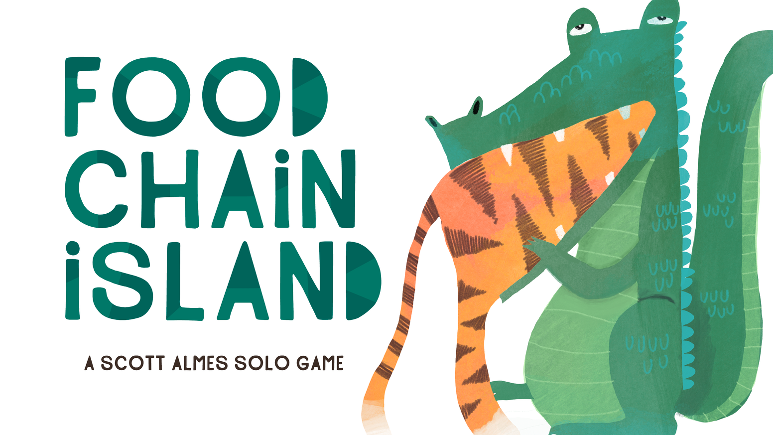 A solo game of whittling down the animal kingdom. Designed by Scott Almes. Artwork by Annie Wilkinson. Only $10 with free expansion! Pre-order at the link below: