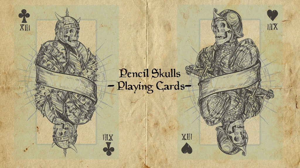 Project image for Pencil Skull Playing Cards (Canceled)