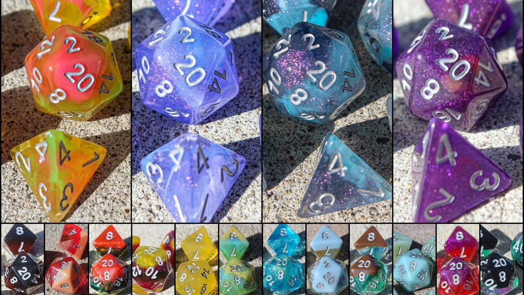 Project image for Dragons of Little Dragon Corp Dice Sets - 11pcs & Pins