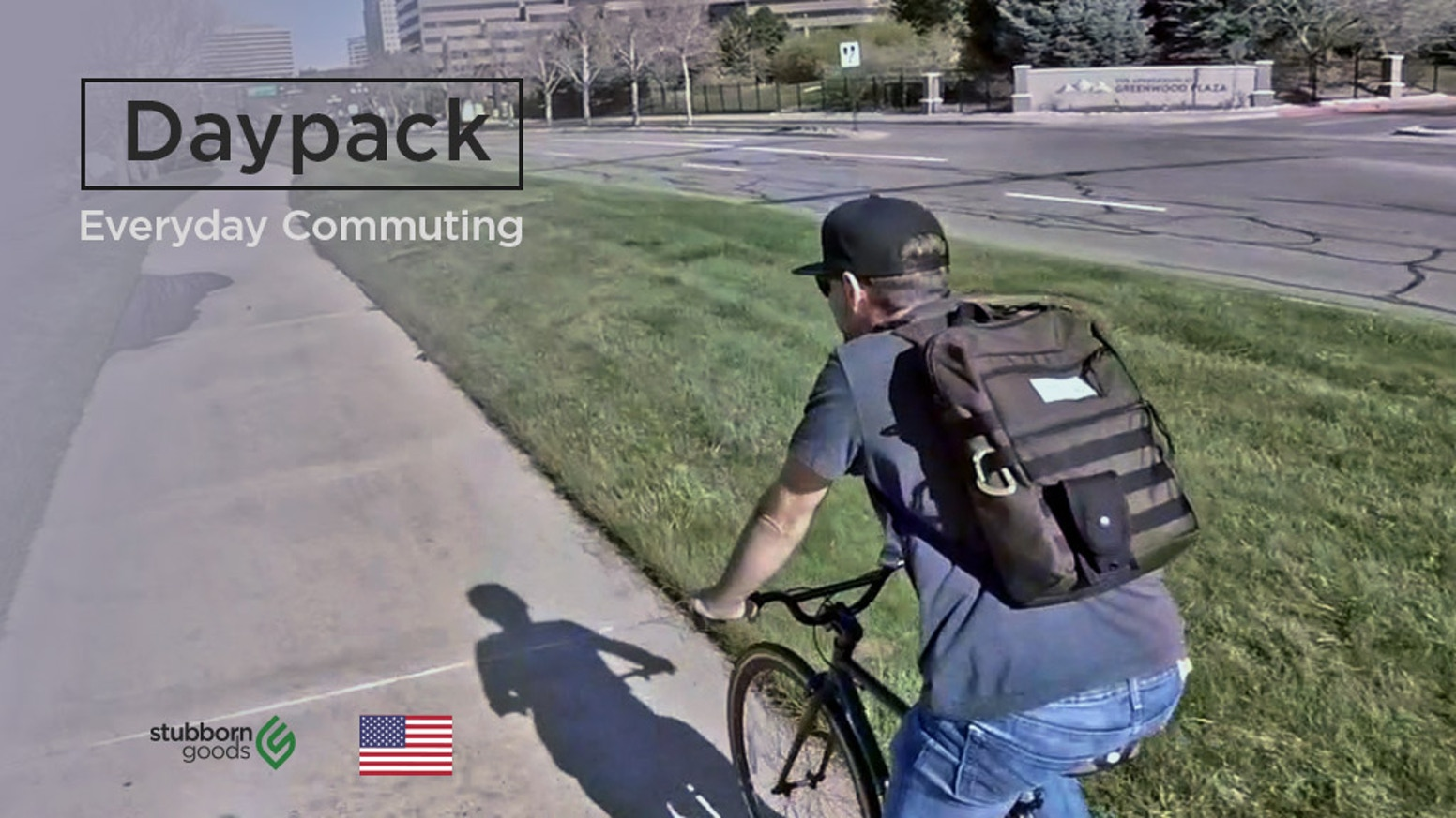 The Daypack is made to carry everything you need during your day. Simple, solid, functional