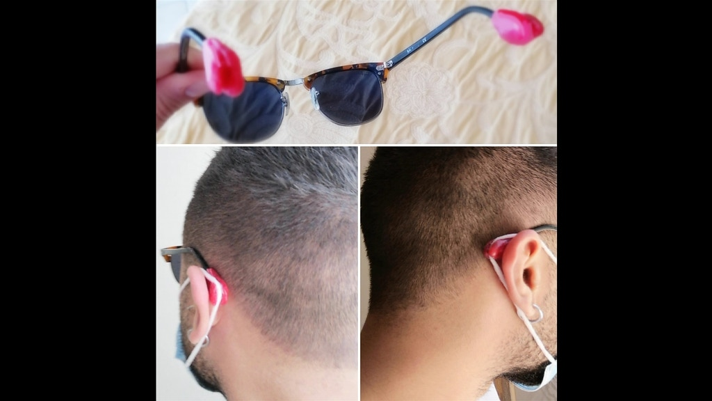 Project image for Mask Eyeglass-Support (for COVID19-mask)