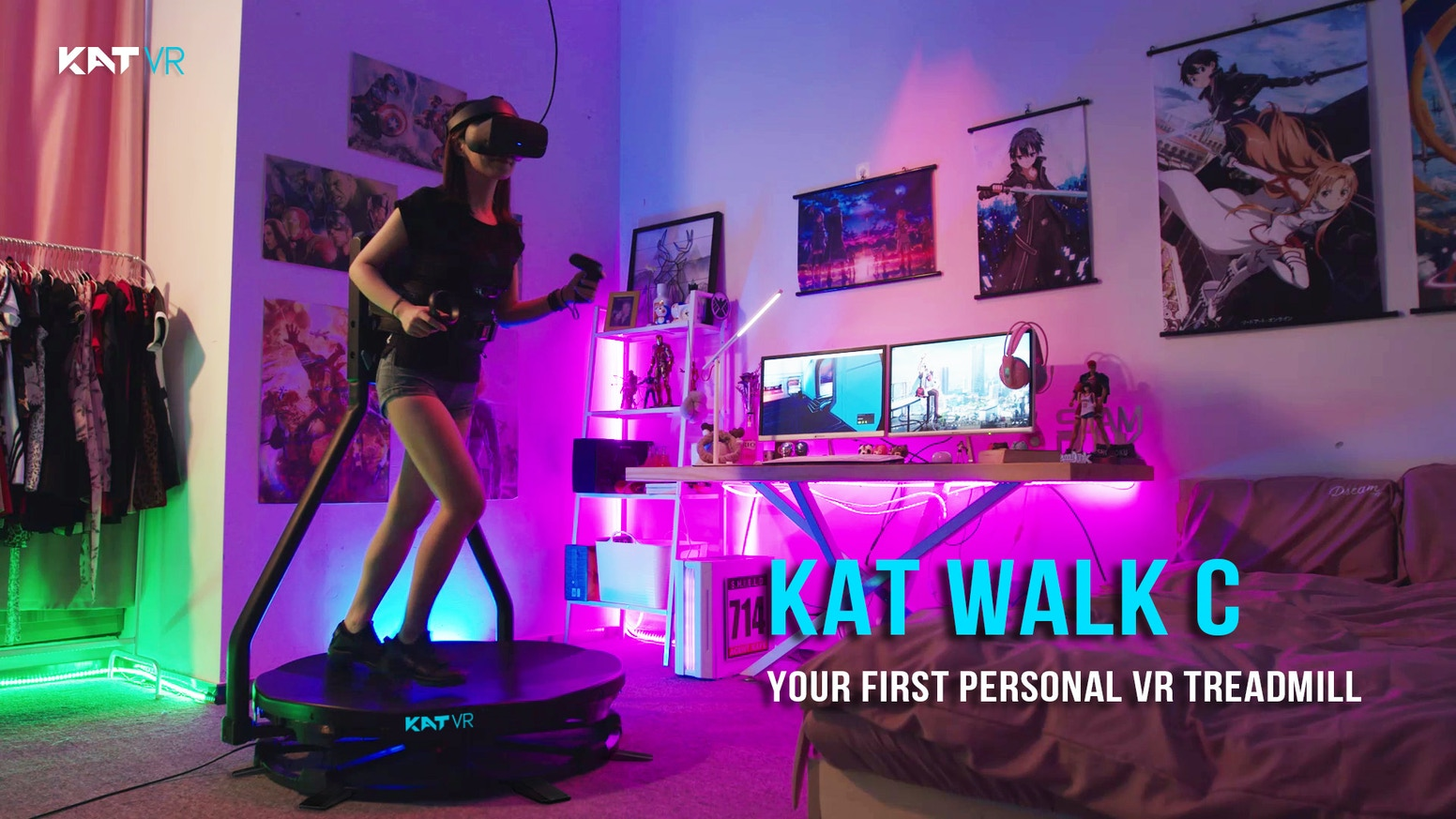 Complete, Compact & Cost-Effective Virtual Reality walking solution designed entirely for gamers! Unleash your body in Virtual Worlds!