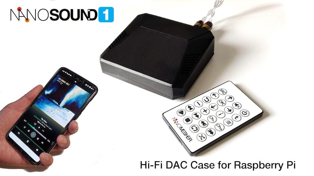 NanoSound ONE - Hi-Fi DAC Case for Raspberry Pi project video thumbnail