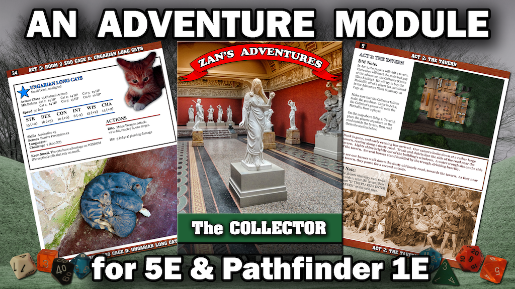 5E DnD / Pathfinder 1E Adventure Module - The Collector project video thumbnail