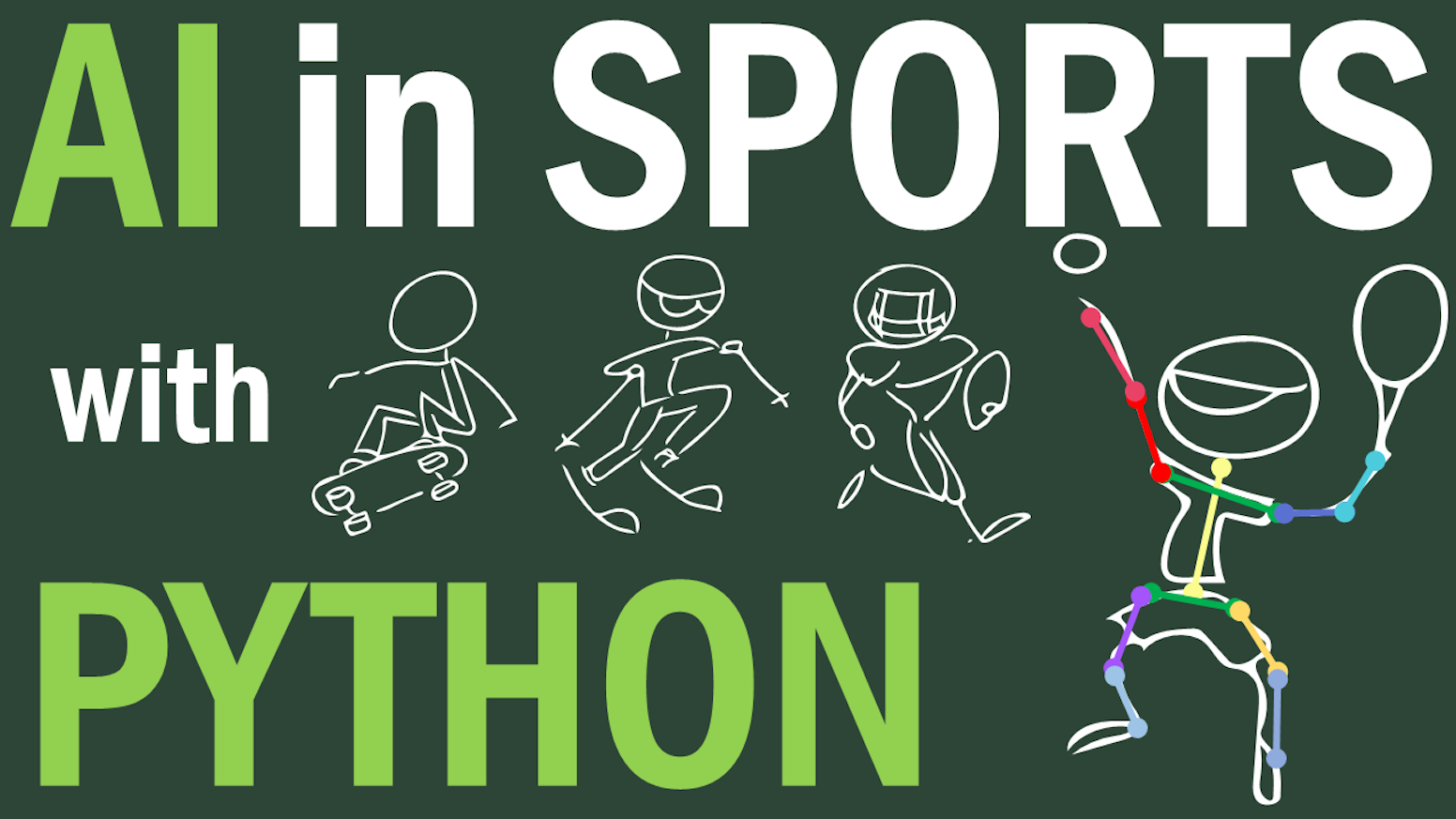 A video training course on AI in Sports with Python. Learn and apply Artificial Intelligence with fun examples.