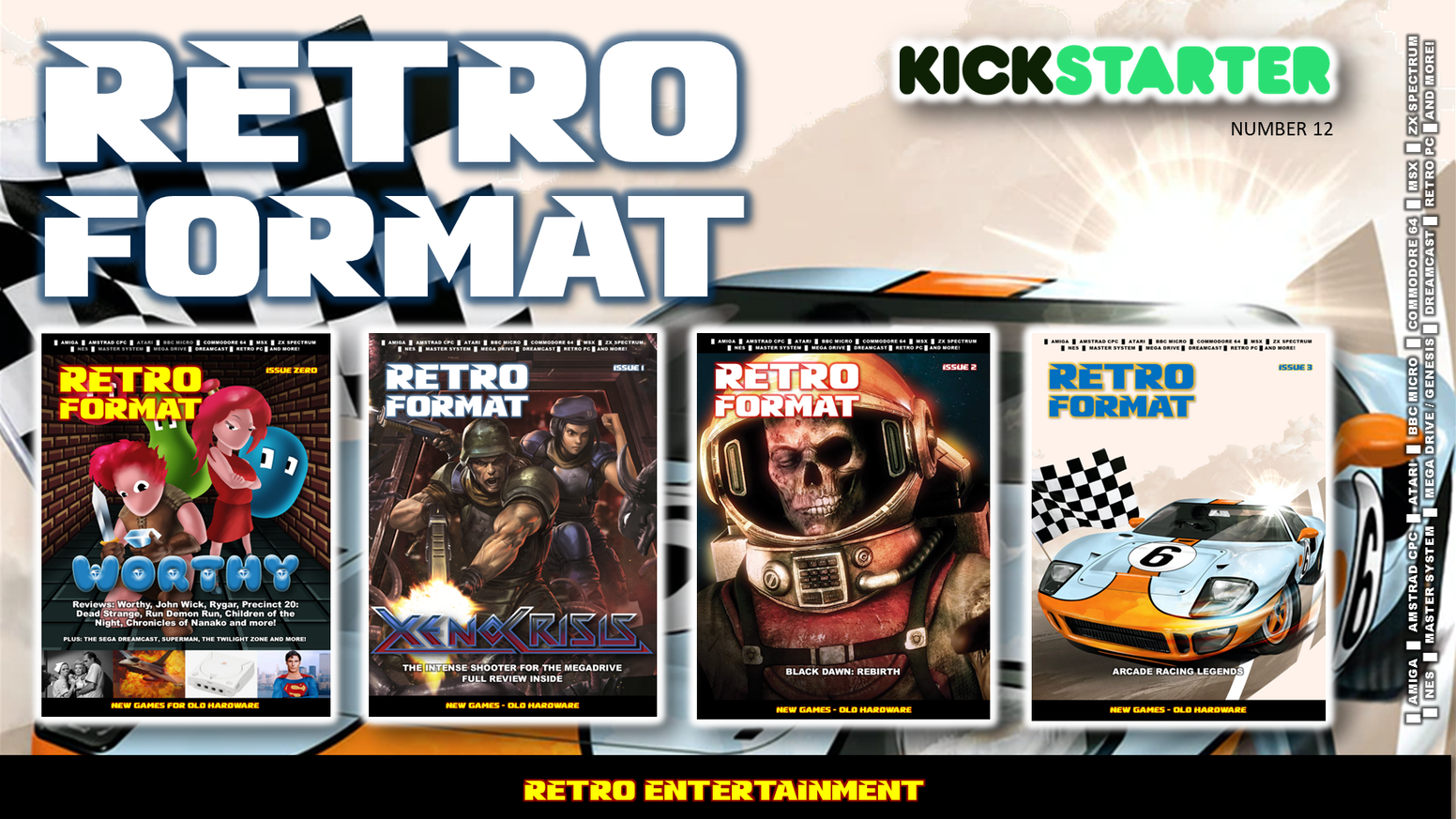 Retro Format is a physical print magazine covering computers and game consoles from the 1970s to the early 2000s.