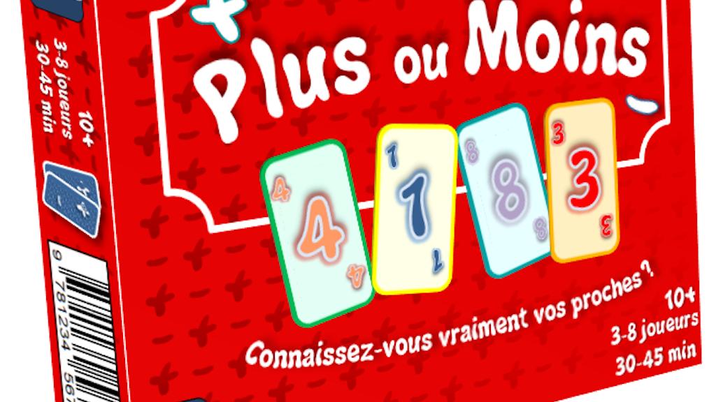 Project image for PLUS OU MOINS - le nouveau jeu de société !