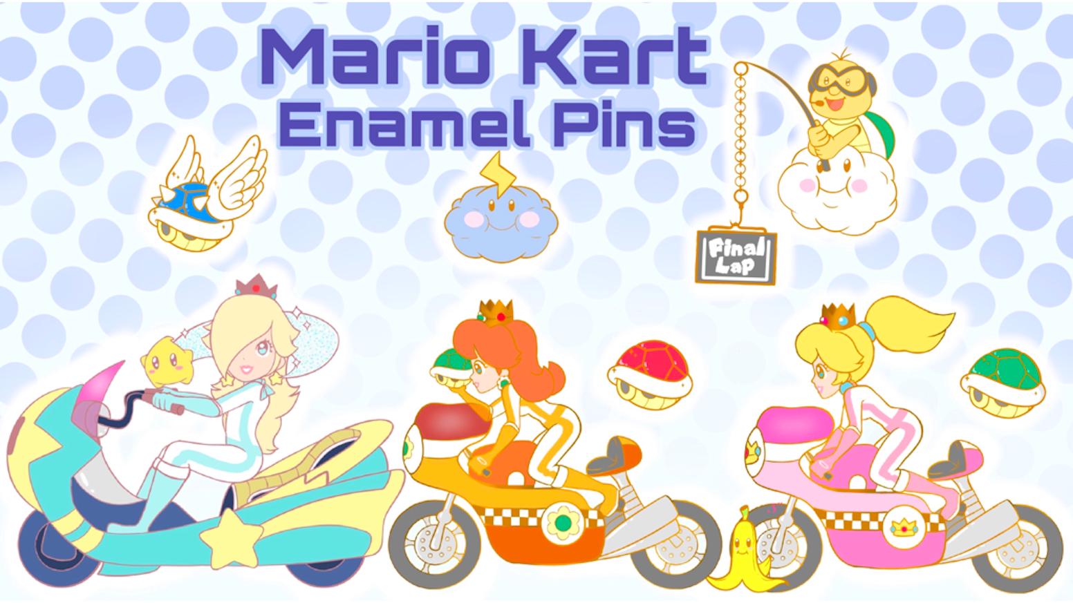 Mario Kart Wii Enamel Pins By Sara Kickstarter